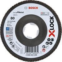 Bosch 2608619199 X-Lock Lamellenschijf Best for Metal - Schuin - Glasvezel - K80 - X571 - 115mm