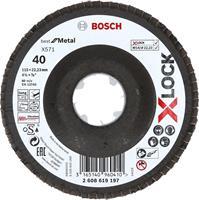 Bosch 2608619197 X-Lock Lamellenschijf Best for Metal - Schuin - Glasvezel - K40 - X571 - 115mm