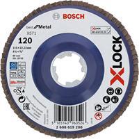 Bosch 2608619208 X-Lock Lamellenschijf Best for Metal - Recht - Kunststof - K120 - X571 - 115mm