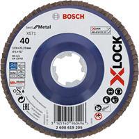 Bosch 2608619205 X-Lock Lamellenschijf Best for Metal - Recht - Kunststof - K40 - X571 - 115mm