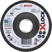 Bosch 2608619203 X-Lock Lamellenschijf Best for Metal - Schuin - Glasvezel - K80 - X571 - 125mm