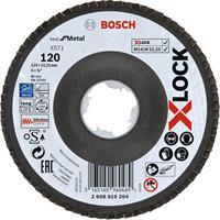 Bosch 2608619204 X-Lock Lamellenschijf Best for Metal - Schuin - Glasvezel - K120 - X571 - 125mm