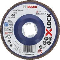 Bosch 2608619209 X-Lock Lamellenschijf Best for Metal - Recht - Kunststof - K40 - X571 - 125mm