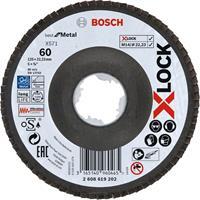 Bosch 2608619202 X-Lock Lamellenschijf Best for Metal - Schuin - Glasvezel - K60 - X571 - 125mm