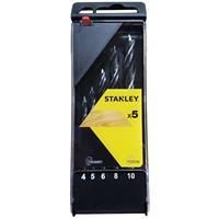 Stanley houtspiraalboren cas. 5-delig