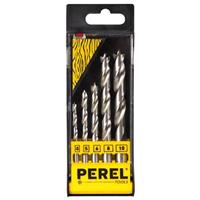 Perel houtborenset 4,5,6,8,10mm