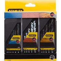 Stanley boorcassette 16-delig met/st/hout