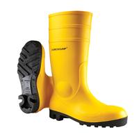 DUNLOP UNISEX Stiefel / Arbeitsschuh Protomaster Gummistiefel Arbeitsstiefel Baustiefel S5 gelb
