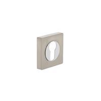 Intersteel Rozet profielcilindergat rond chroom/nikkel mat