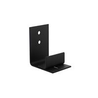 intersteel Verstelbare deurgeleider tbv onderzijde schuifdeur - zwart