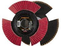 Rhodius VISION SPEED tandveerring 125 x 22,23 - P40 Rhodius 210644 Diameter 125 mm 1 stuks