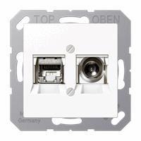 Coax/UTP aansluiting wit  A(S)500 multimedia