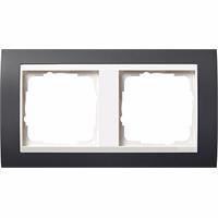 GIRA 0212328 - Frame 2-gang anthracite 0212328