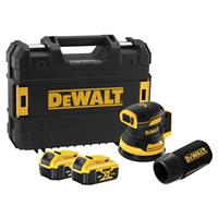 DeWALT DCW210P2 18V Li-ion Accu excenterschuurmachine set (2x 5.0Ah accu) - 125mm
