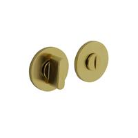 Intersteel Olivari rozet toilet-/badkamersluiting rond messing mat titaan PVD