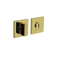 Intersteel Olivari rozet toilet-/badkamersluiting vierkant messing titaan PVD