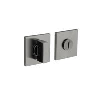 Intersteel Olivari rozet toilet-/badkamersluiting vierkant rvs mat titaan PVD