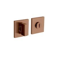 Intersteel Olivari rozet toilet-/badkamersluiting vierkant koper mat titaan PVD