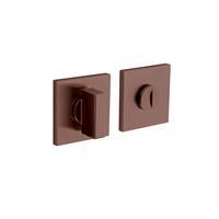 Intersteel Olivari rozet toilet-/badkamersluiting vierkant brons mat titaan PVD