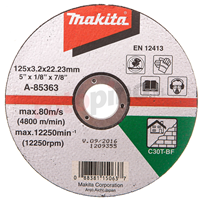 Makita Doorslijpschijf 125x3,0mm steen A-85363