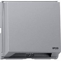GIRA TX44 adapterraam met opsteekbare afdekkap IP20 aluminium