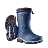 Dunlop K354061 Blizzard Kinderlaars gevoerd PVC Blauw/Grijs/Zwart - Maat 35