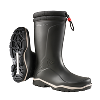 Dunlop K400061 Blizzard Gevoerde Winterlaars PVC Zwart - Maat 44