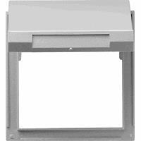 GIRA TX44 overgangsplaat met klapdeksel aluminium