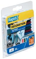 rapid 5001424 Lijmpatronen - Rood/Groen/Blauw Glitter - 7x90mm (36st)