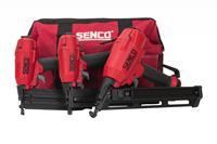 senco 10S2001N 3-in-1 Pneumatische tacker set in tas