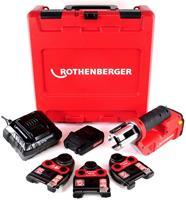rothenberger Romax Compact TT 18V Li-ion accu perstangset (1x 2,0Ah accu + 3 x persbek TH) in koffer