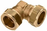 bonfix 82526 Haakse knelkoppeling - Messing - 12x12mm