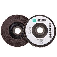 VONROC Lamellenschijven - 125mm universeel - 2 stuks - hout, metaal en kunststof