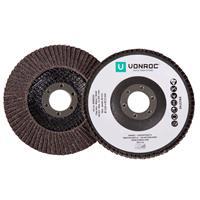 VONROC Lamellenschijven - 115mm universeel - 2 stuks - hout, metaal en kunststof