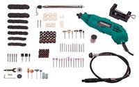 VONROC Roterende Multitool 160W- flexibele as - Incl. 232-delige accessoire set en opbergtas