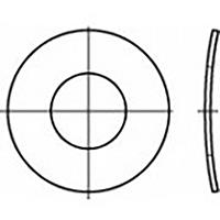 toolcraft TO-6854553 Veerschijven Binnendiameter: 3 mm DIN 137 RVS V2A A2 100 stuk(s)