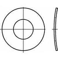 toolcraft TO-6854508 Veerschijven Binnendiameter: 8 mm DIN 137 Verenstaal Verzinkt 100 stuk(s)