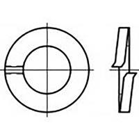 toolcraft TO-6854001 Veerringen Binnendiameter: 6 mm DIN 127 Verenstaal 100 stuk(s)