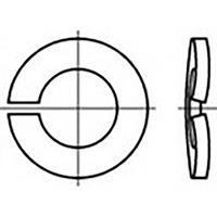 toolcraft TO-6854295 Veerringen Binnendiameter: 6 mm DIN 128 Verenstaal 100 stuk(s)