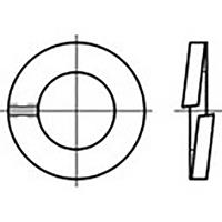 toolcraft TO-6854202 Veerringen Binnendiameter: 2 mm DIN 127 RVS V4A A4 100 stuk(s)
