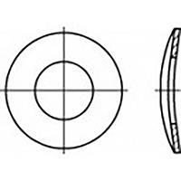 toolcraft TO-6854571 Veerschijven Binnendiameter: 3 mm DIN 137 RVS V2A A2 100 stuk(s)