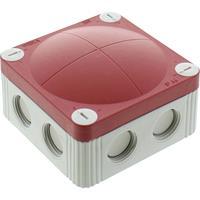 wiska 10060480 Aftakkast (l x b x h) 85 x 85 x 51 mm Grijs-wit (RAL 7035), Rood IP66/IP67