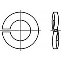 toolcraft TO-6854352 Veerringen Binnendiameter: 4 mm DIN 128 Verenstaal Verzinkt 100 stuk(s)