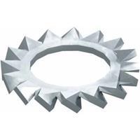 obobettermann Gekartelde schijven Binnendiameter: 10.5 mm M10 DIN 6798 Staal 100 stuk(s) OBO Bettermann DIN 6798 A M10 G 3404102