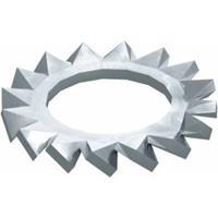 obobettermann Gekartelde schijven Binnendiameter: 8.4 mm M8 DIN 6798 Staal 100 stuk(s) OBO Bettermann DIN 6798 A M8 G 3404080