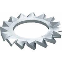 obobettermann Gekartelde schijven Binnendiameter: 13 mm M12 DIN 6798 Staal 100 stuk(s) OBO Bettermann DIN 6798 A M12 G 3404129