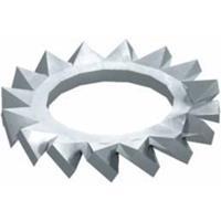 obobettermann Gekartelde schijven Binnendiameter: 6.4 mm M6 DIN 6798 Staal 100 stuk(s) OBO Bettermann DIN 6798 M6 VA 3404331