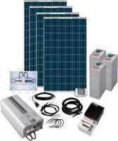 phaesun Solar Rise Eight  600281 Solarset 1000 Wp Incl. accu, Incl. aansluitkabel, Incl. laadregelaar, Incl. wisselrichter