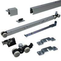 argenta Proslide complete schuifdeurset 2 meter rail - Enkele softclose - Minimale deurbreedte 730mm - Max. 100kg - Opbouw bevestiging