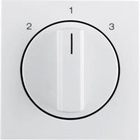 Berker draaiknop driestandenschakelaar 2-1-3 S1/B3/B7 wit glans